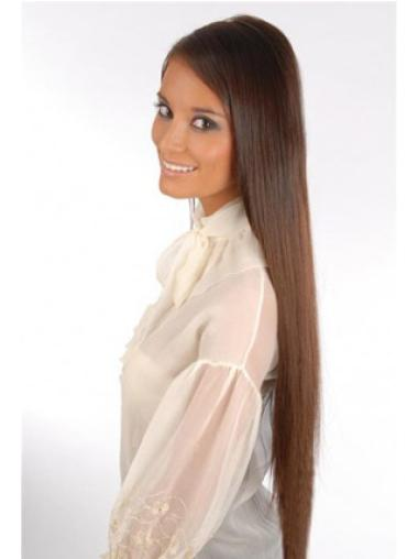 Remy Human Hair Straight Auburn Top Clip in Hair Extensions
