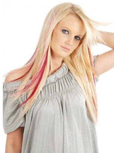 Remy Human Hair Straight Red Modern Clip in Hair Extensions
