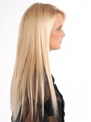 Remy Human Hair Straight Blonde High Quality Clip in Hair Extensions