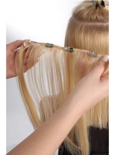 Remy Human Hair Straight Blonde Fashionable Clip in Hair Extensions