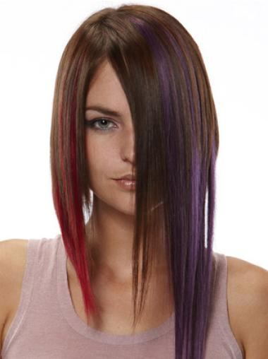 Remy Human Hair Straight Red Perfect Clip in Hair Extensions
