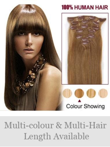 Remy Human Hair Straight Traditiona Clip in Hair Extensions