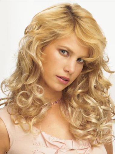 Synthetic Curly Blonde Discount Clip in Hair Extensions
