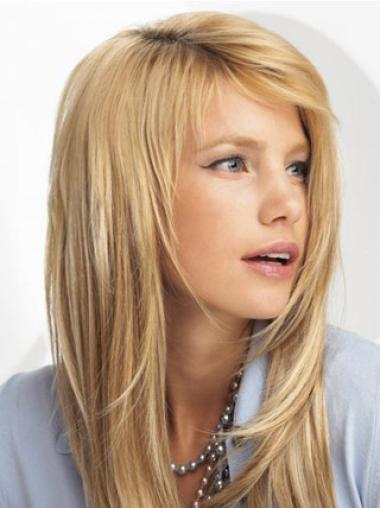 Synthetic Straight Blonde Incredible Clip in Hair Extensions