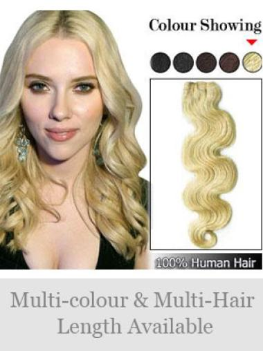 Remy Human Hair Blonde Fashionable Weft Extensions