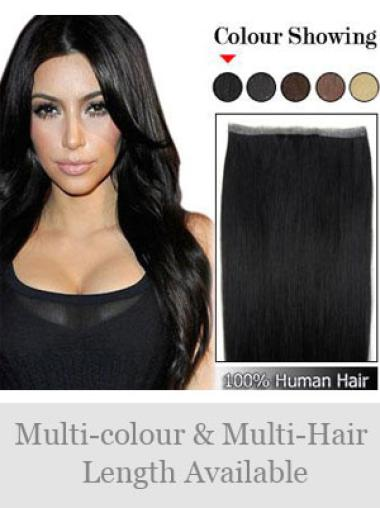 Remy Human Hair Black Fashionable Tape in Hair Extensions