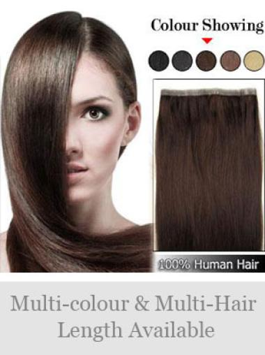Remy Human Hair Brown Stylish Tape in Hair Extensions