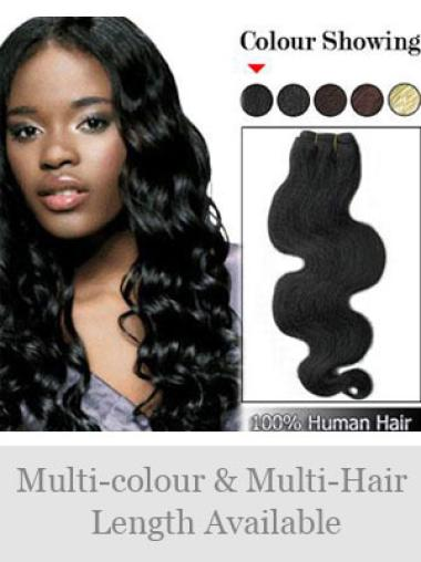 Remy Human Hair Black Durable Weft Extensions