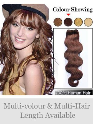 Remy Human Hair Auburn Traditiona Weft Extensions