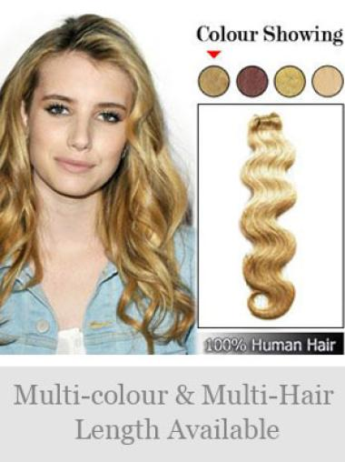 Remy Human Hair Blonde Fashion Weft Extensions
