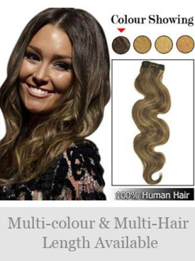 Remy Human Hair Brown Modern Weft Extensions