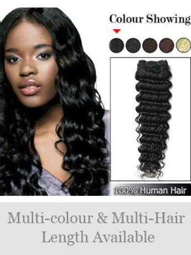 Remy Human Hair Black Discount Weft Extensions