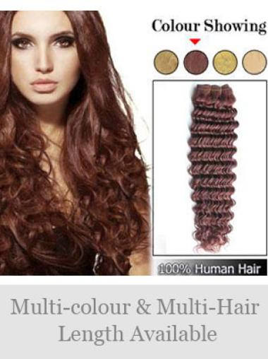 Remy Human Hair Auburn Unique Weft Extensions