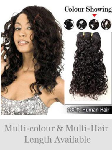 Remy Human Hair Black Affordable Weft Extensions