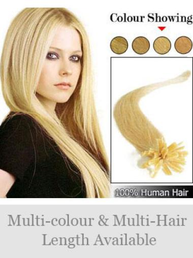 Remy Human Hair Straight Durable Nail-U Tip Hair Extensions