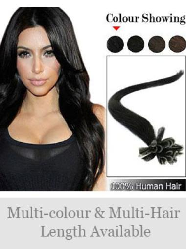 Remy Human Hair Straight Preferential Nail-U Tip Hair Extensions