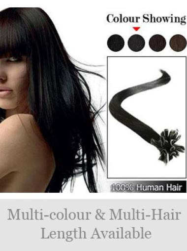 Remy Human Hair Straight Unique Nail-U Tip Hair Extensions