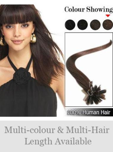 Remy Human Hair Straight Flexibility Nail-U Tip Hair Extensions