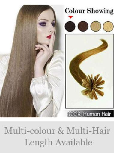 Remy Human Hair Straight Fashionable Nail-U Tip Hair Extensions