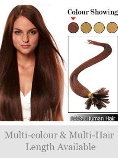 Remy Human Hair Straight Wholesome Nail-U Tip Hair Extensions