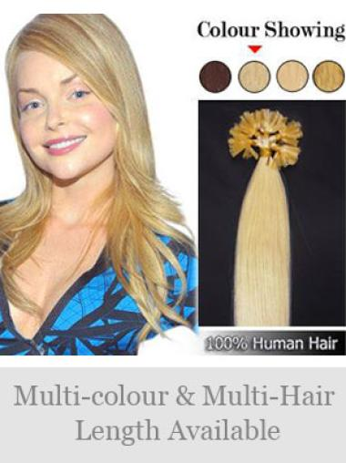 Remy Human Hair Straight Comfortable Nail-U Tip Hair Extensions
