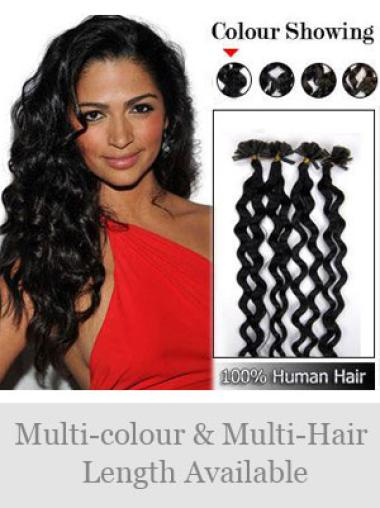 Remy Human Hair Curly Impressive Nail-U Tip Hair Extensions