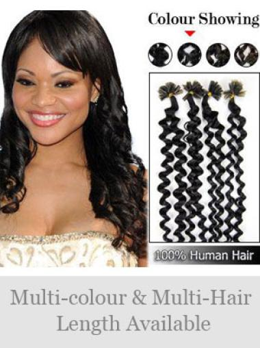 Remy Human Hair Curly Tempting Nail-U Tip Hair Extensions