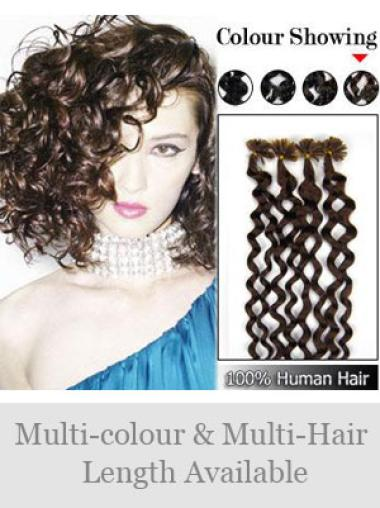 Remy Human Hair Curly Fabulous Nail-U Tip Hair Extensions