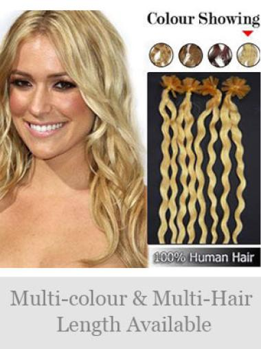 Remy Human Hair Curly Affordable Nail-U Tip Hair Extensions