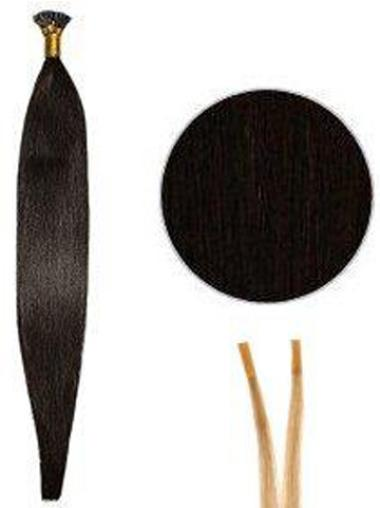 Designed Black Synthetic Stick-I Tip Hair Extensions