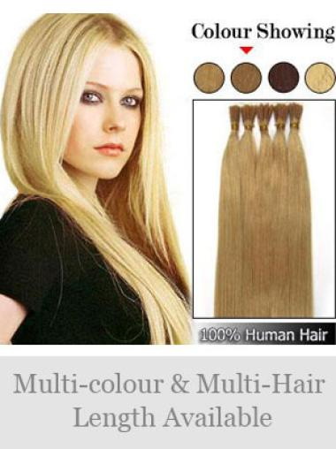 Good Blonde Remy Human Hair Stick-I Tip Hair Extensions