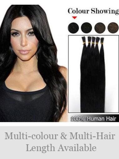 Discount Black Remy Human Hair Stick-I Tip Hair Extensions