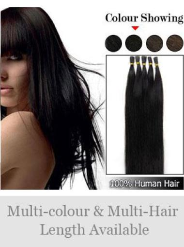 Black Remy Human Hair Stick-I Tip Hair Extensions