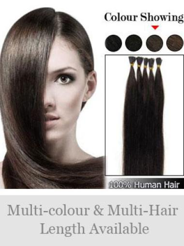 High Quality Brown Remy Human Hair Stick-I Tip Hair Extensions