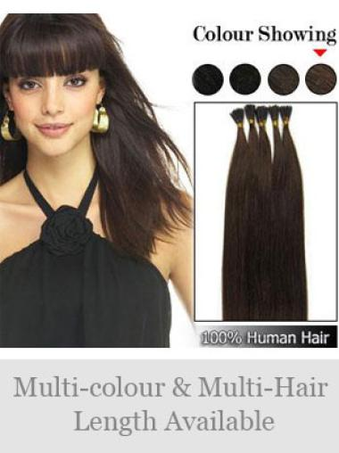 Durable Black Remy Human Hair Stick-I Tip Hair Extensions