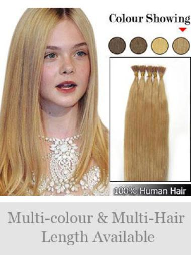 Exquisite Blonde Remy Human Hair Stick-I Tip Hair Extensions