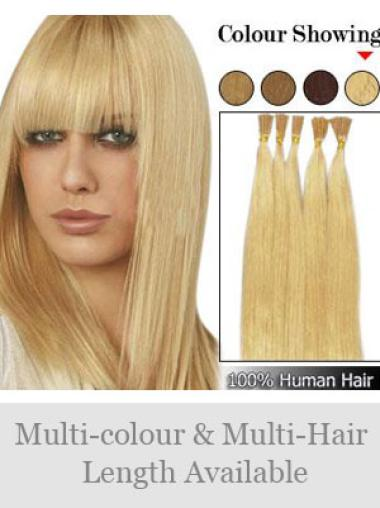 Fashion Blonde Remy Human Hair Stick-I Tip Hair Extensions