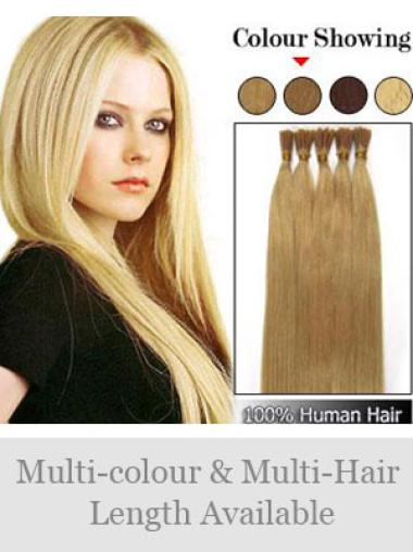 Fashionable Blonde Remy Human Hair Stick-I Tip Hair Extensions