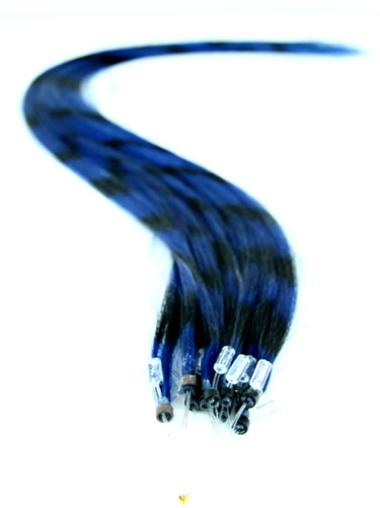 Braw Black Straight Synthetic Hair Extensions Micro Loop Ring