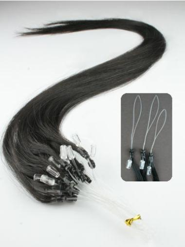 Cool Black Straight Remy Human Hair Hair Extensions Micro Loop Ring