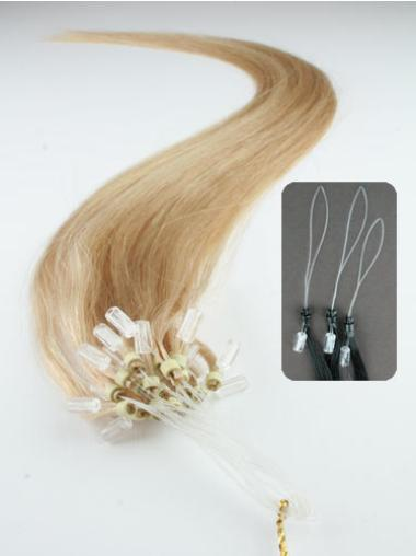 Glamorous Blonde Straight Remy Human Hair Hair Extensions Micro Loop Ring