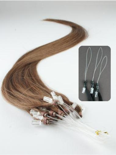 Traditiona Brown Straight Remy Human Hair Hair Extensions Micro Loop Ring