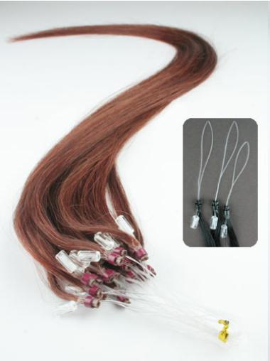Easeful Auburn Remy Human Hair Hair Extensions Micro Loop Ring