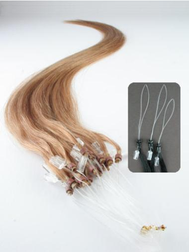 Impressive Blonde Straight Remy Human Hair Hair Extensions Micro Loop Ring