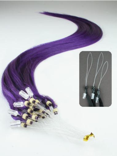 Pleasing Black Straight Remy Human Hair Hair Extensions Micro Loop Ring