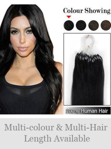 Remy Human Hair Black Mature Micro Loop Ring Hair Extensions