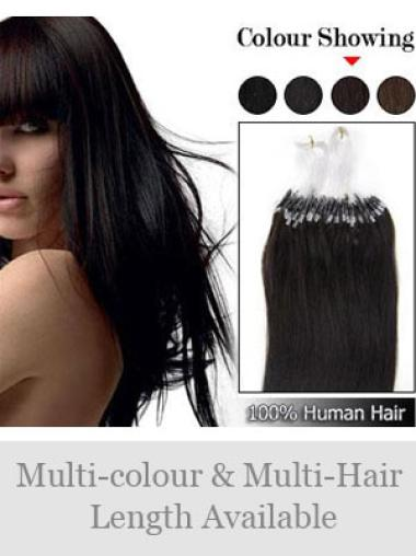 Remy Human Hair Black Impressive Micro Loop Ring Hair Extensions