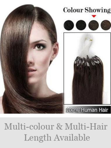Remy Human Hair Brown Durable Micro Loop Ring Hair Extensions