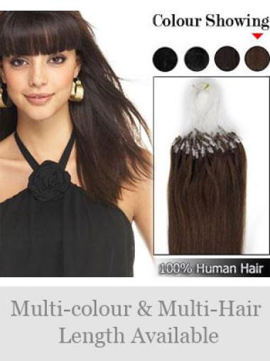 Remy Human Hair Brown Cheap Micro Loop Ring Hair Extensions