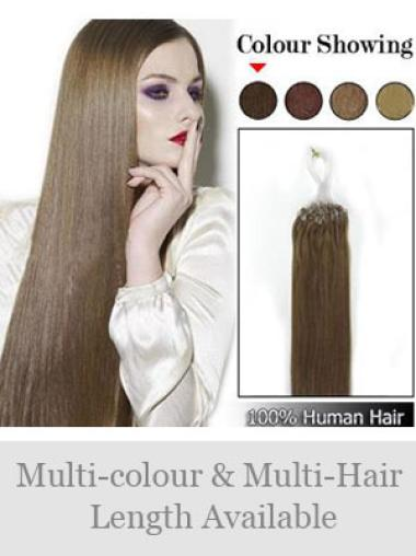Remy Human Hair Brown Micro Loop Ring Hair Extensions